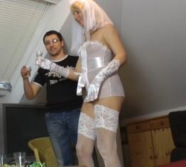 Braut für eine Nacht! Er spritz rein!