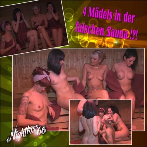 4 Mädels in der falschen Sauna !