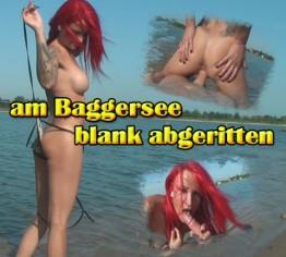 am Baggersee blank abgeritten