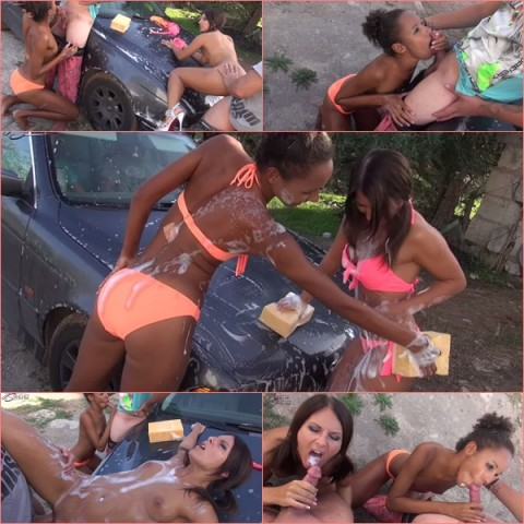 Car-Wash mit Vater und 18j. Sohn!