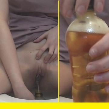 In die Flasche gepinkelt