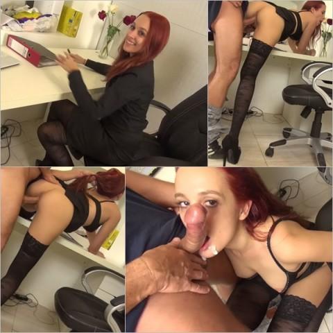 Ehebruch - Sekretärin fickt mit dem Chef!