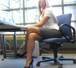 Sekretärin geht pissen!