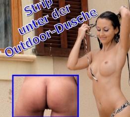 Strip unter der Outdoor-Dusche