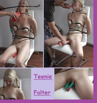 Aua!!! Teenie Folter! Kurz vor der Ohnmacht!