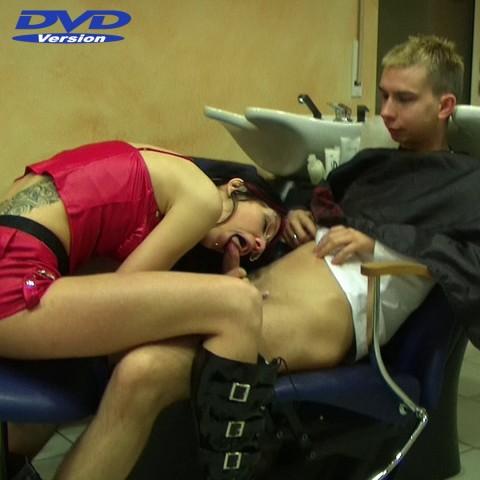 Dirty Blowjob beim Friseur