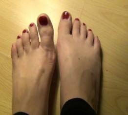 Lutsch meine Füße sauber