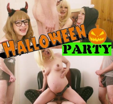 Drei Schwestern auf der Halloween-Party!