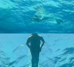 Mermaid mit blanken Titten
