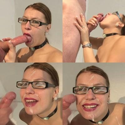 Fresse und Brille zugekleistert