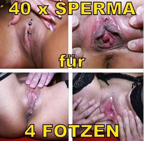 EXTREM: Sperma-Orgie für 4 Fotzen (1/2)