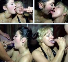 Rita und Amanda: 4 Schwänze abgeblasen