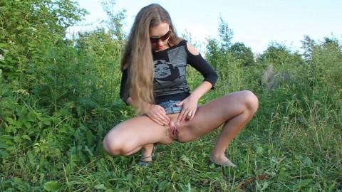 Mini Pee Natursekt draussen