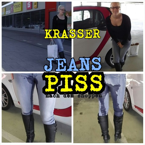 Parkhaus Jeans- Piss in Stiefeln