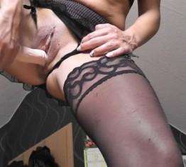 strapse...nylons und dildo