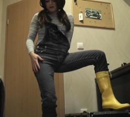 sexy jeanslatz