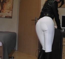 weiße Reiterhose