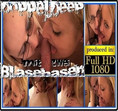Doppeldeep mit 2 Blonden Blasehasen POV