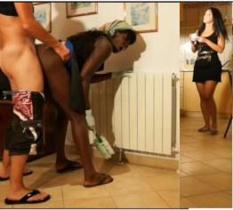 Putzfrau gefickt während Ehefrau nebenan spült