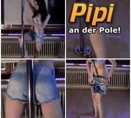 An der Poledance Stange EINGEPISST