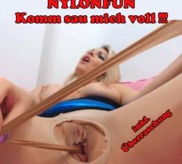 Nylonfun-Komm sau mich voll