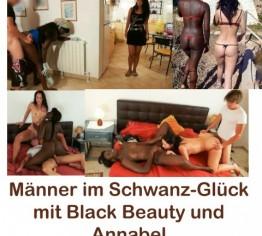 Männer im Schwanz-Glück mit Black Beauty und Annabel, best off