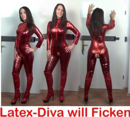 Latex-Diva bettelt um nen Fick vom Nachbarn