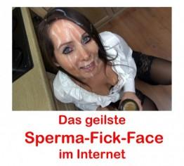 Das geilste Sperma-Fick-Face im Internet