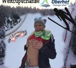 Weltcupschanze- einmaliger Clip-Outdoor-Public