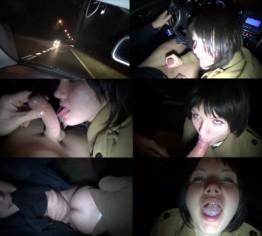 blowjob im auto, anhalten ficken, schlucken... public, car
