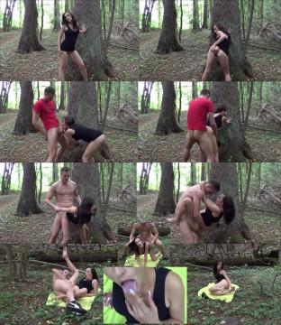 Aupair Mächen im Wald heimlich gefickt, weil zu Hause nicht möglich...