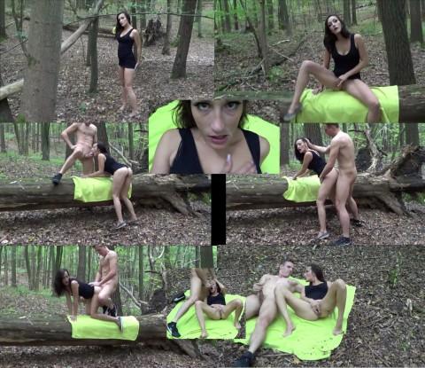Im Wald geiles Teenluder gesehen und durchgefickt...