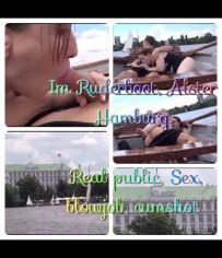 Im Ruderboot in HH auf der Alster öffentlich Sex und blasen cumshot