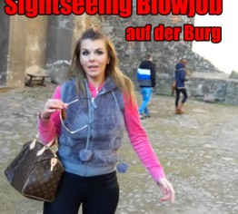 Sightseein Blowjob auf der Burg