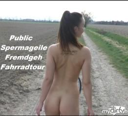 Public-Spermageile-Fremdgeh-Fahrradtour!!