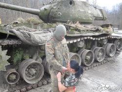 Heimlich auf dem Panzer gedreht!!!
