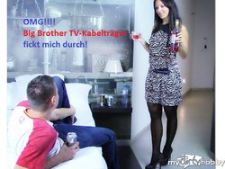Diva wird gefickt vom Big Brother TV-Kabelträger RS