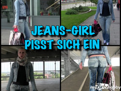 Shopping Piss - JEANS GIRL pisst sich ein
