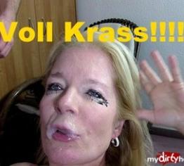 Horror-Deepthroat mit XL-Sperma!