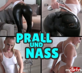 PRALL und NASS - Duschen in Leggings und Badeanzug