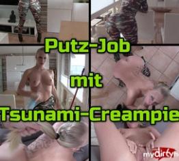 Tsunami Creampie - Putz-Job mit FICK ARSCH posing