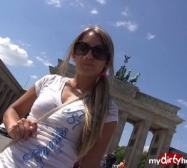 Vom Fan erkannt am Brandenburger Tor
