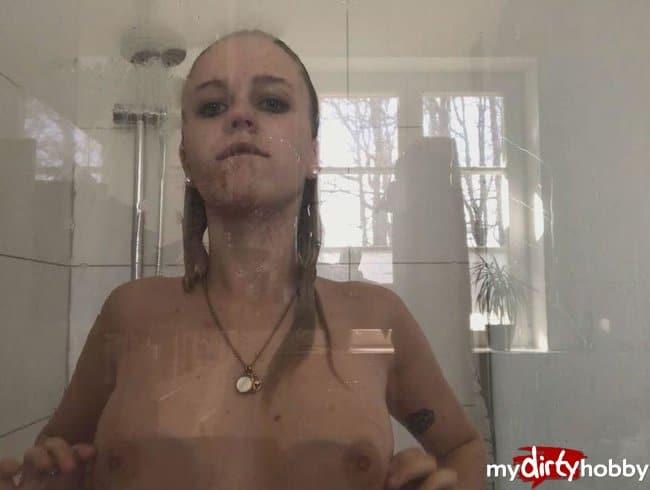 Ich unter der Dusche