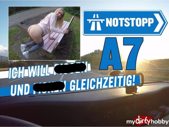 NOTSTOPP A7!! ICH WILL PISSEN UND FICKEN GLEICHZEITIG!