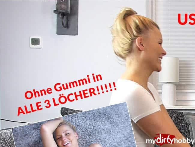 USERTREFFEN mit Sascha!!! Ohne Gummi in ALLE 3 LÖCHER!!!!!